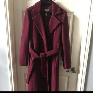 Maroon Old Navy dress coat